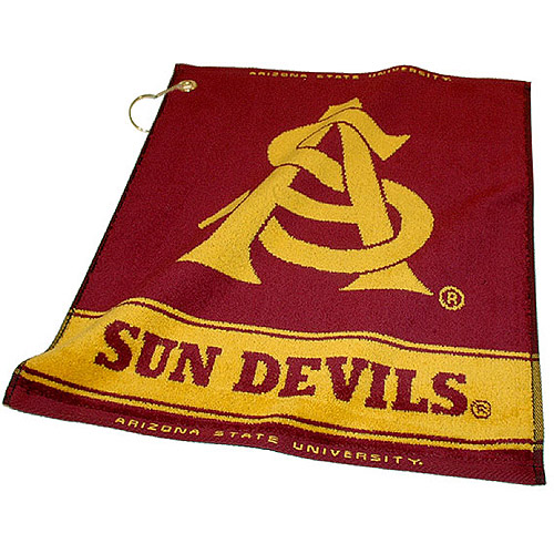 Team Golf NCAA Arizona State  Jacquard Woven Golf Towel
