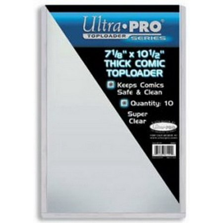 Ultra Pro 7442781191 Top Loader - Thick Comic 7 1/2X11 (10 Per Pack) ()