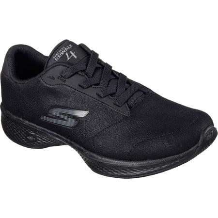 27773be2c661e Skechers Performance Women's Go Walk 4 Premier Walking Shoe,Black Synthetic  Leather,10 M US