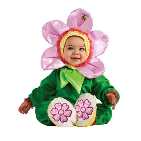 Infant Girls Flower Costume Pink Pansy Baby Jumpsuit Headpiece & Booties](Baby Spice Girl Costume)
