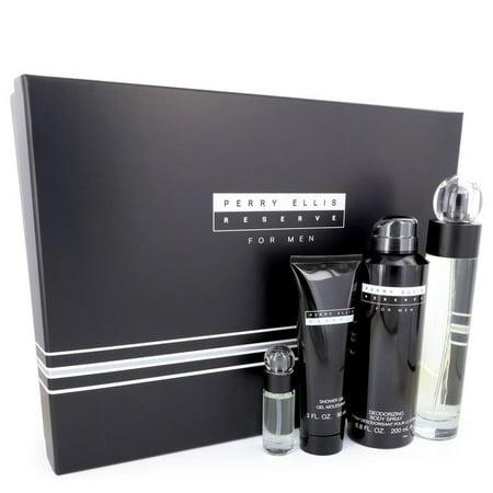Perry Ellis - Gift Set -- 3.4 oz Eau De Toilette Spray + 6.8 oz Body Spray + 3 oz Shower Gel + .25 oz Mini EDT Spray - Men ()