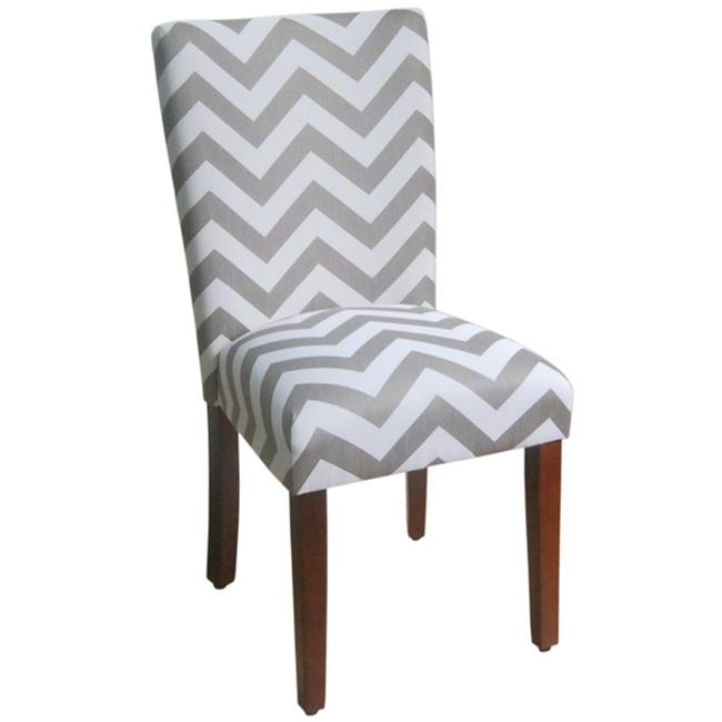 Kinfine USA K6805-F1568 Parson Dining Chair Grey & White by