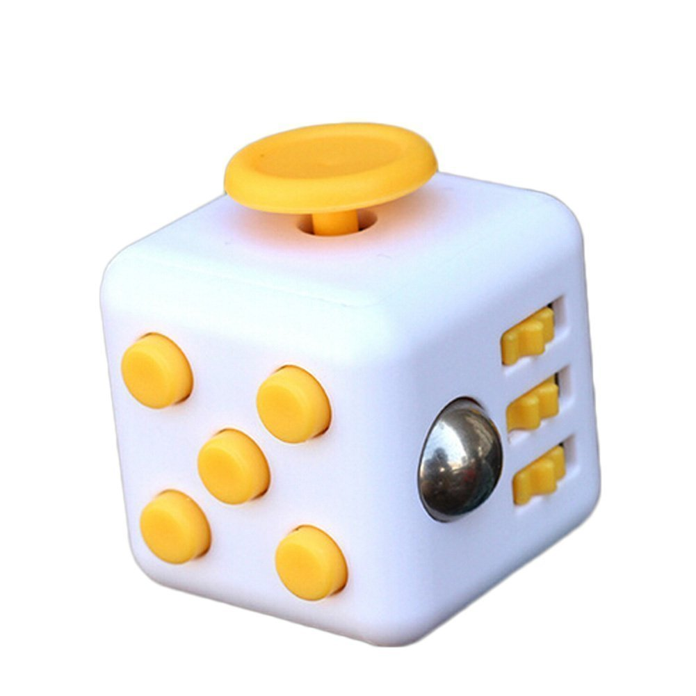 Olia Design Fidget Cube Relieves Stress And Anxiety for Children and Adults Anxiety Attention Toy, yellow ?