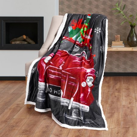 Safdie & Co. Christmas Throw Blanket Photoreal 50