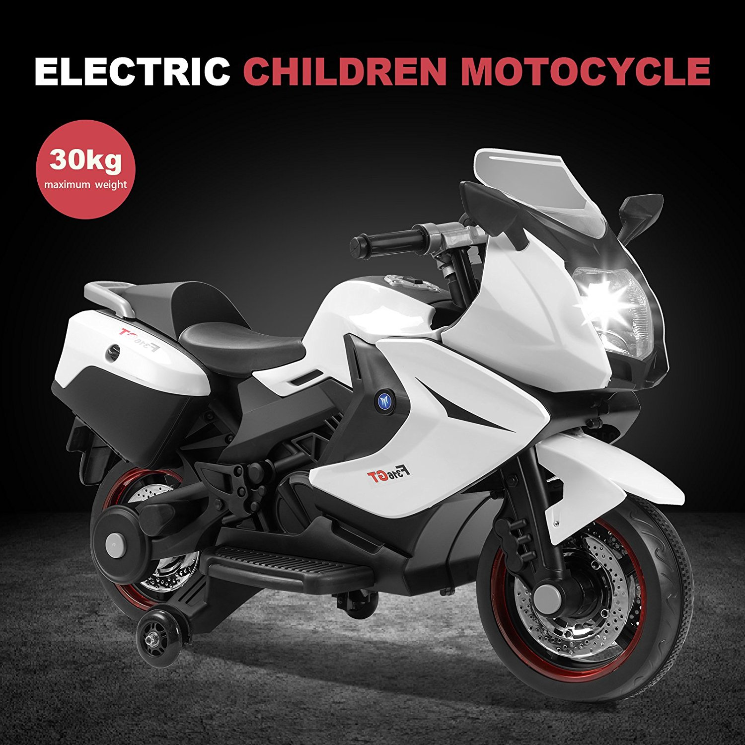 Kids Ride on Motorcycle 12V Toy Battery Powered Electric 2 Wheels Remote Control by Uenjoy