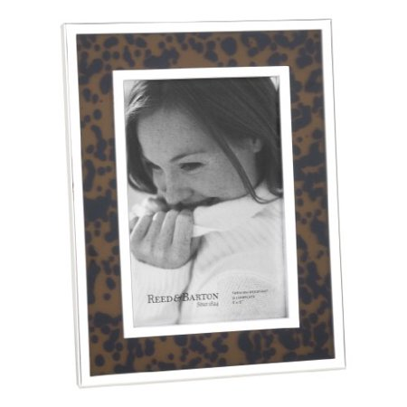 Reed Barton 7246 Tortoise Silver Plate Picture Frame 4 Inch By 6