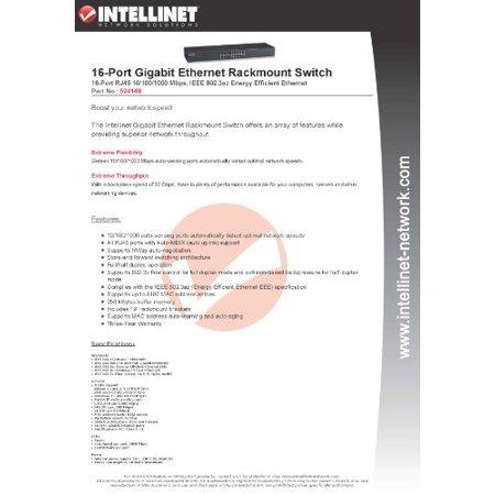 Metal Rackmount Switch (Intellinet 16-Port Gigabit Ethernet Rackmount Switch (Metal))
