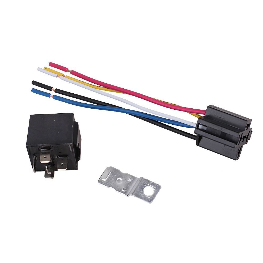 Automotive Waterproof Relay Harness Set SPDT 5-Pin 30/40A 12V with on 8 pin 24vdc relay, 8 pin octal relay, 8 pin latching relay, dayton 8 pin relay, 8 pin ac relay,