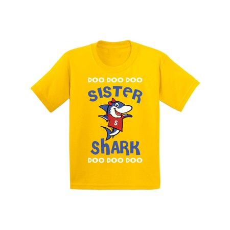 Awkward Styles Sister Shirt Family Sister Shark Youth Shirt Shark Family Shirts for Kids Matching Shark Tshirts for Family Shark Themed Party Outfit for Girls Cute Shark Tshirt for Girls for $<!---->