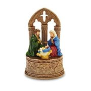 Rustic Nativity Figurine Multi-Colored
