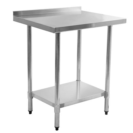 Costway X Stainless Steel Work Prep Table With Backsplash - Stainless steel work table with backsplash
