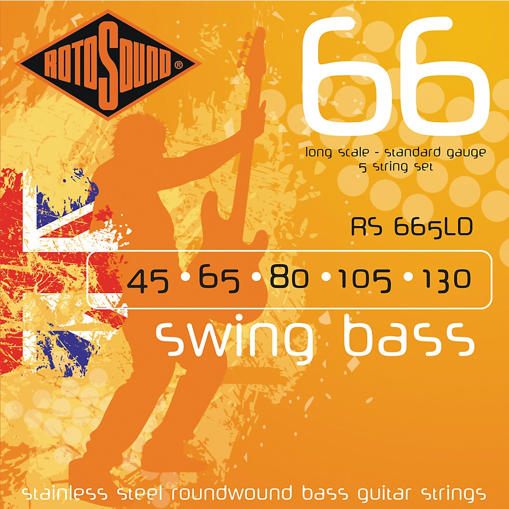 Rotosound RS665LD Roundwound 5-String Bass Strings