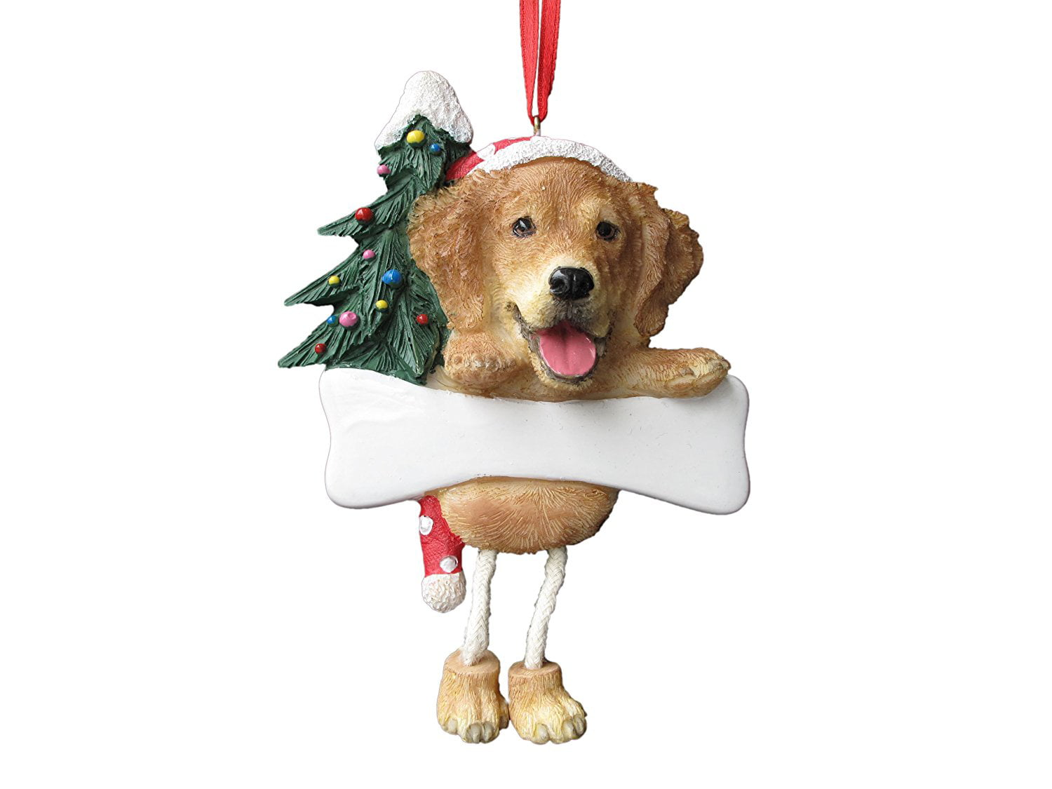 golden retriever ornament with unique dangling legs hand painted and easily personalized christmas ornament by es pets walmartcom - Goldendoodle Christmas Decorations