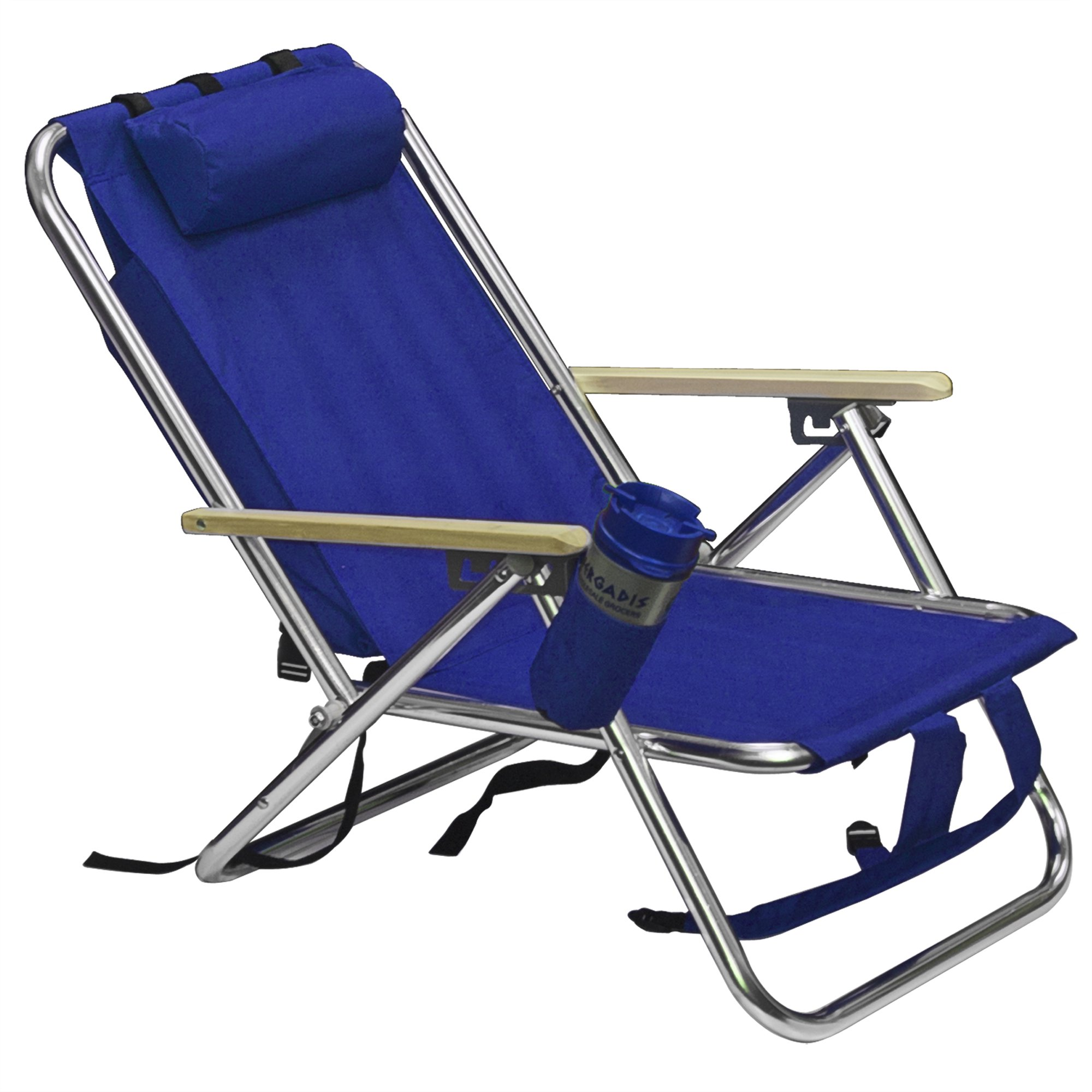 Best Choice Products Backpack Beach Chair Folding Portable Chair Solid  Construction Camping New   Blue