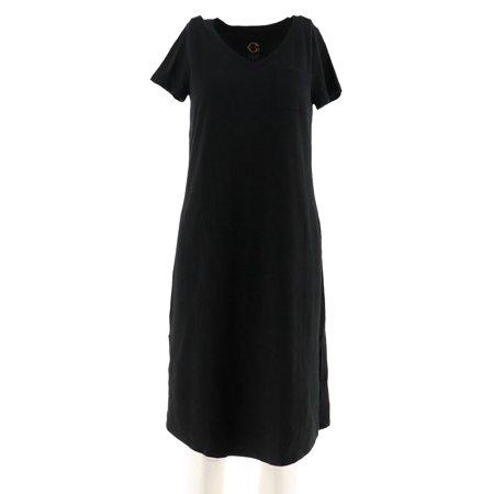 C Wonder Petite Essentials Slub Knit Midi Dress A289779 ()
