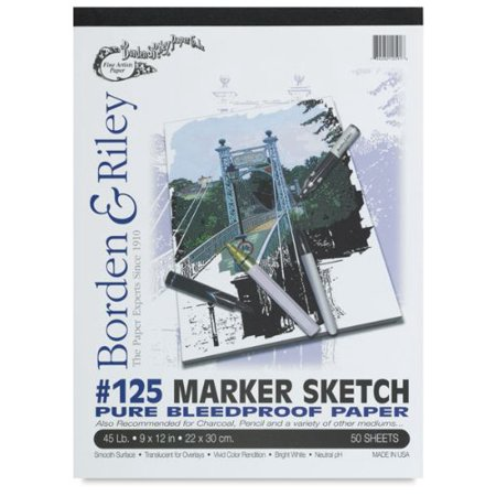 Borden & Riley - #125 Marker Sketch Pure Bleedproof Paper Pad - 9