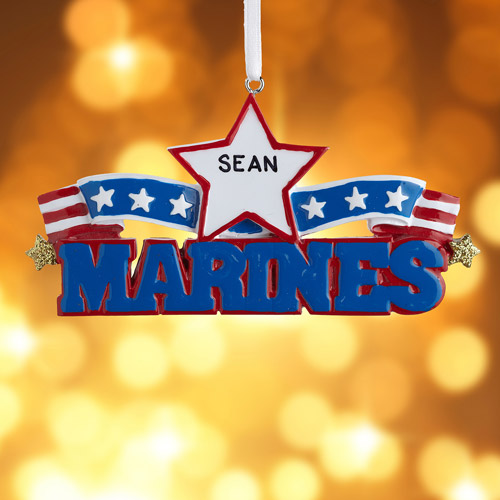 Personalized Marines Ornament
