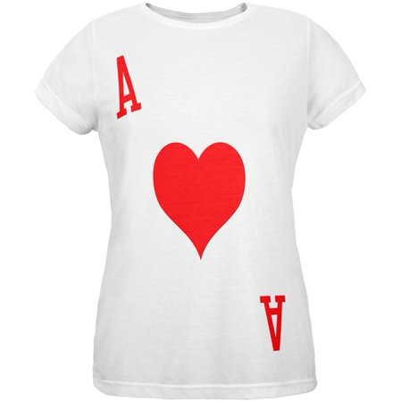 Halloween Ace of Hearts Card Soldier Costume All Over Womens T - Old Lady Halloween Pics