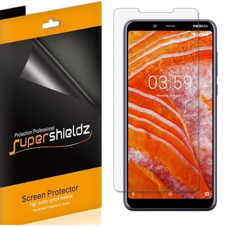 [6-Pack] Supershieldz for Nokia 3.1 Plus (International Model Only) [Not Fit for Cricket Wireless] Screen Protector, Anti-Bubble High Definition (HD) Clear