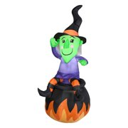 Gemmy Airblown Witch On Cauldron Inflatable