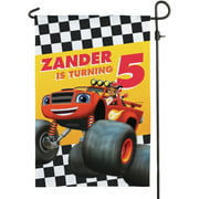 Personalized Blaze And The Monster Machines Birthday Flag