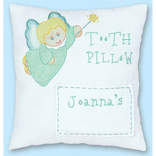 "Jack Dempsey Stamped Tooth Fairy Pillow Cover, 8"" x 8"""