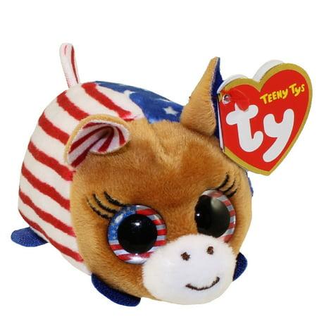 TY Beanie Boos - Teeny Tys Stackable Plush - VOTE DEMOCRAT the Donkey (3.5 inch) - Democrat Donkey