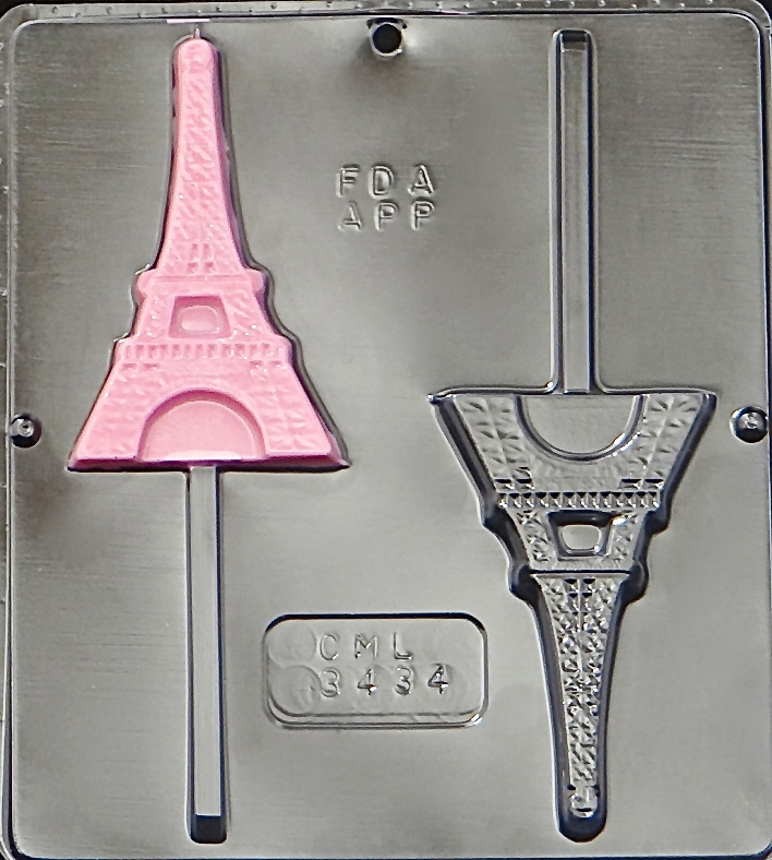 Click here to buy 3434 Eiffel Tower Paris Lollipop Chocolate Candy Mold.