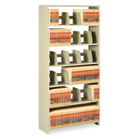 Tennsco Regal Shelving Starter (Tennsco Snap-Together Steel Six-Shelf Closed Starter Set, 36w x 12d x 76h,)