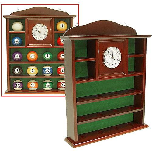 Ball Holder Quartz Clock with Solid Wood