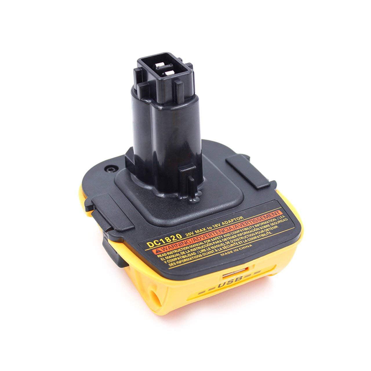 20V Battery Adapter DCA1820 for Dewalt 18V Tools Convert ...