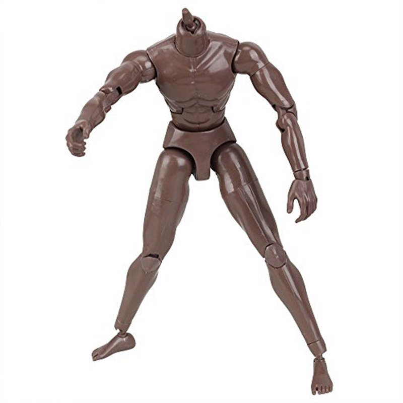 Black Skin 1/6 Scale Action Figure Male Muscle Muscular Naked Body Toys Model Version 3.0