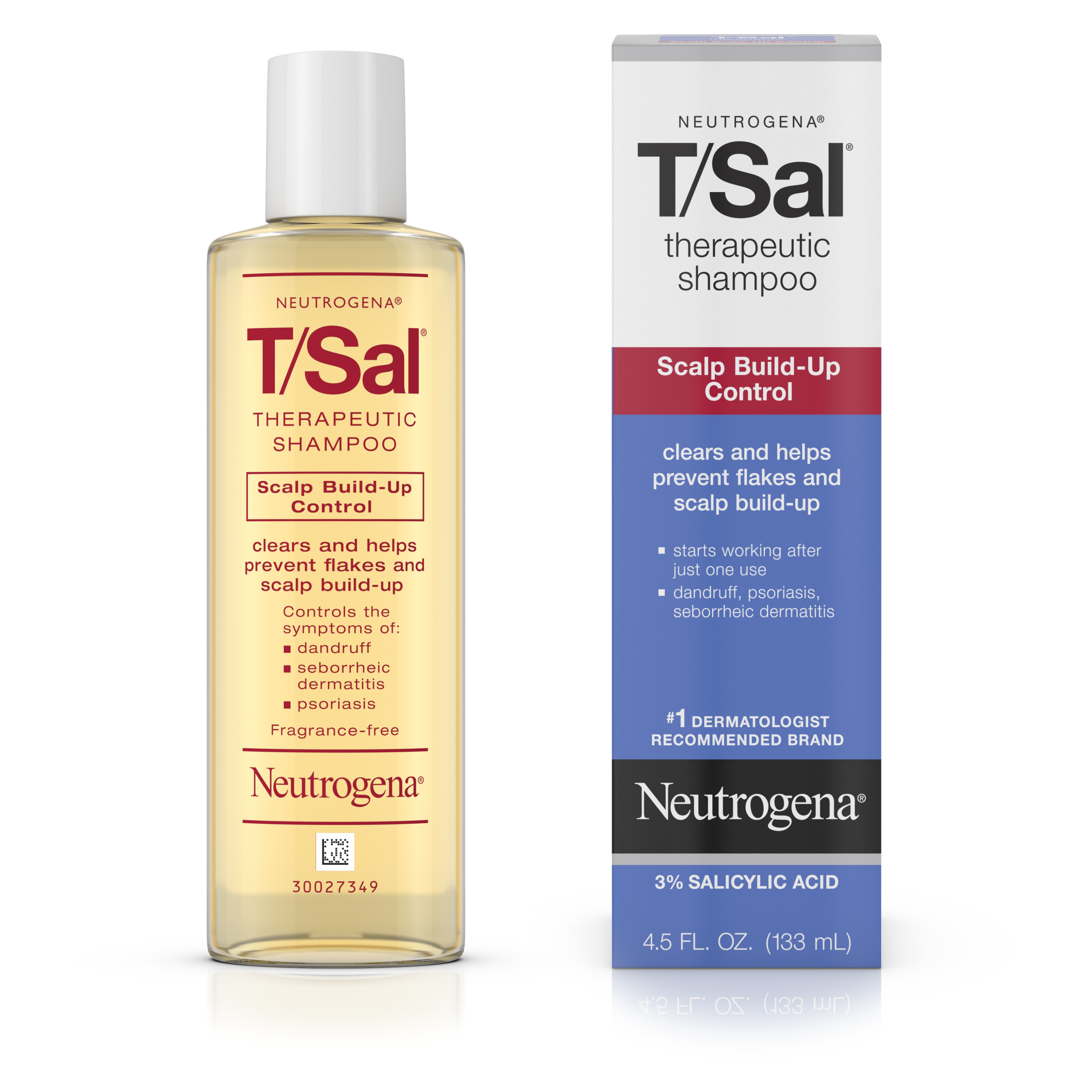 Neutrogena T/Sal Shampoo Scalp Build-Up Control, 4.5 Fl Oz