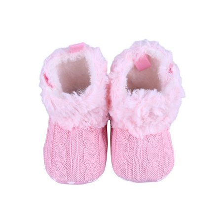 Babula Newborn Baby Boy Girl Crib Snow Boots Prewalker Shoes 0-18M