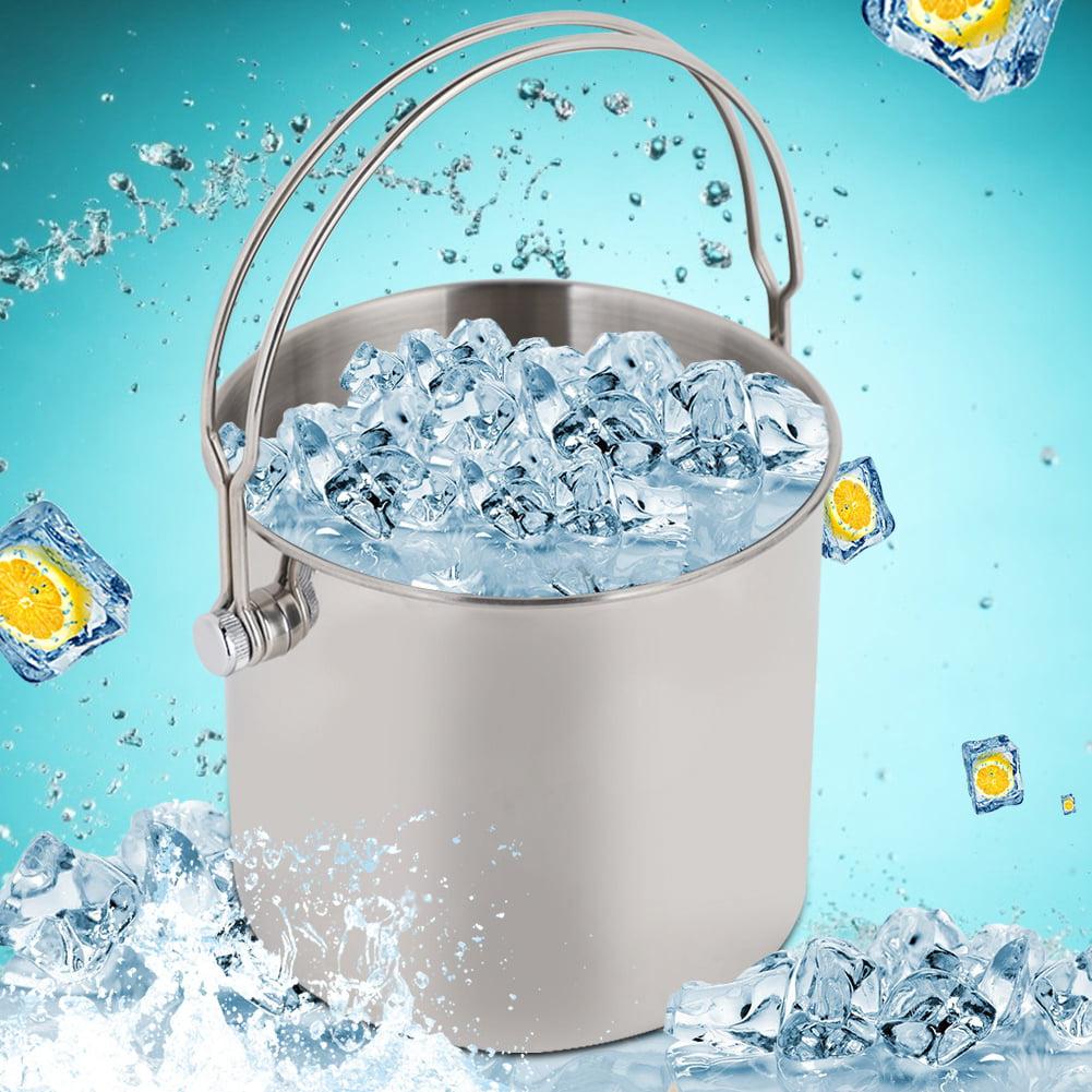 Le seau /à glace de chapeau sup/érieur le seau magique de glace form/é par chapeau de bi/ère de vin a isol/é le seau /à glace ovale en plastique acrylique noir de refroidisseur de mode