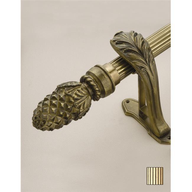 WinarT USA 8. 1073. 45. 06. 320 Palas 1073 Curtain Rod Set - 1. 75 inch - Gold Leaf - 126 inch