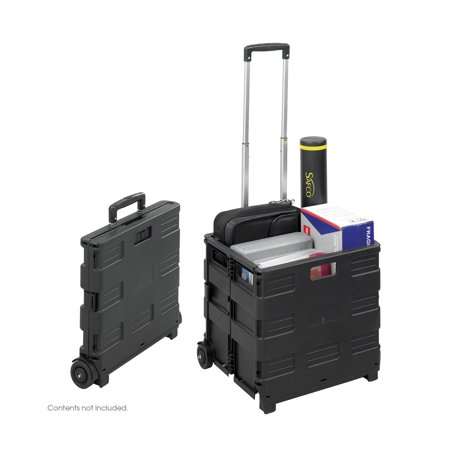 b76c318f7408 Safco 4054BL Folding Hand Trucks STOW AWAY Crate