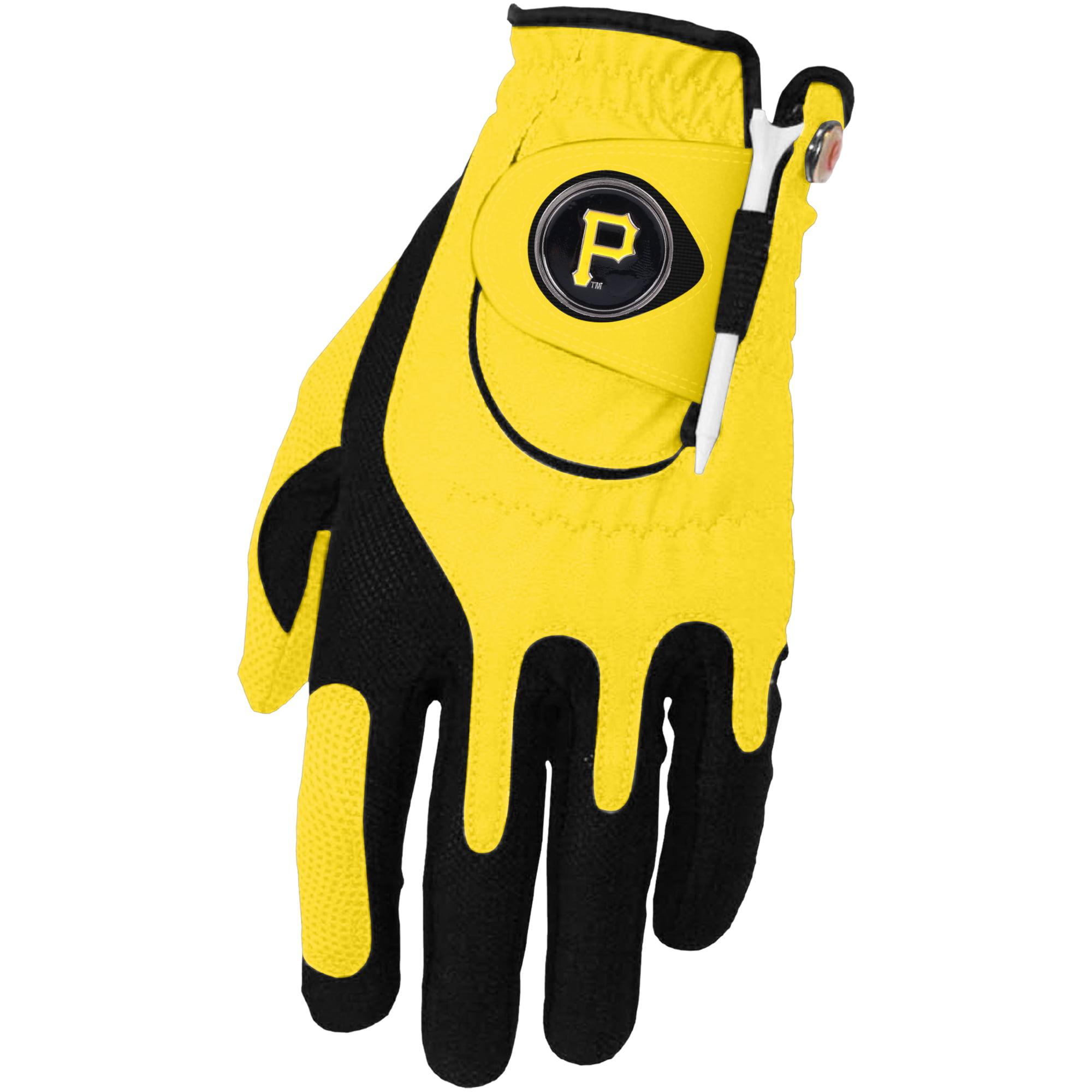 Pittsburgh Pirates Left Hand Golf Glove & Ball Marker Set - Yellow - OSFM