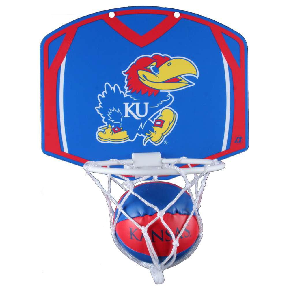 Kansas Jayhawks Mini Basketball And Hoop Set - Alt
