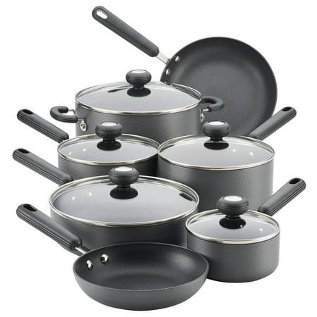 Circulon Classic Hard-Anodized Nonstick Cookware Set, 12-Piece, Gray Circulon Hard Anodized Cookware