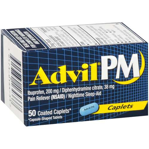 Advil: PM Caplets* Sleep Aid, 50 Ct