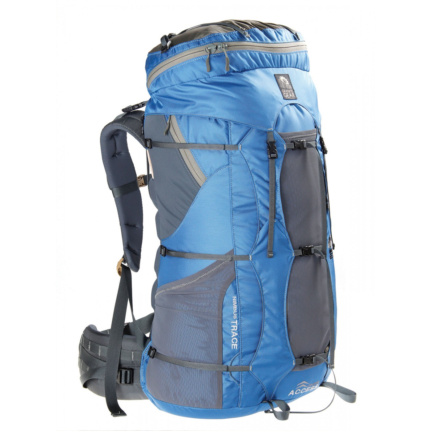 Granite Gear Womens Nimbus Trace Access 70 KI Blue/Moonmist Multi-Day Backpack