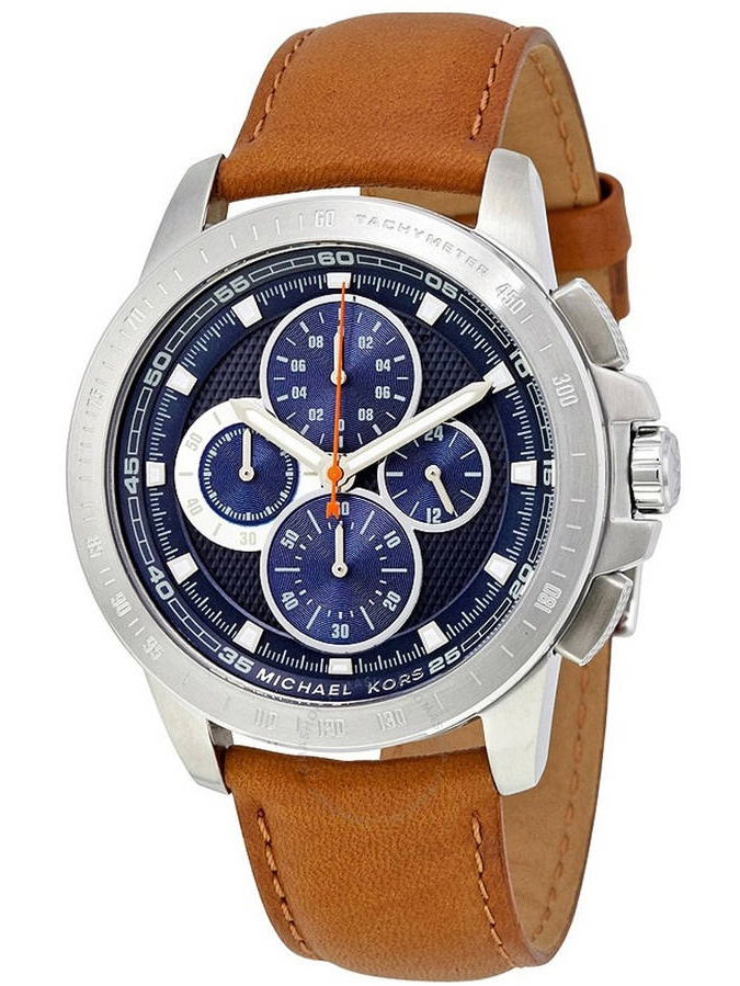 Michael Kors Ryker Chronograph Leather Men's Watch, MK8518