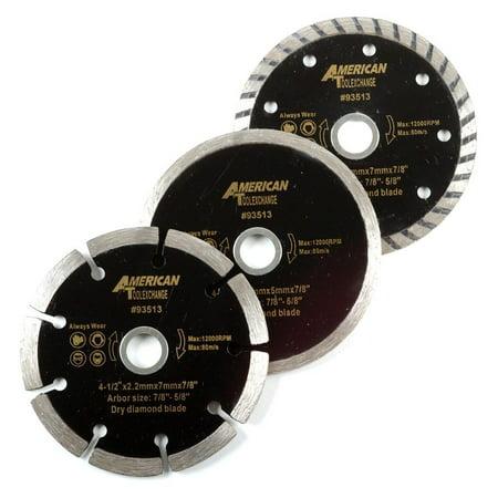 ATE Pro. USA 93513 Wet Dry Turbo Diamond Blade (3 Piece), 4-1/2