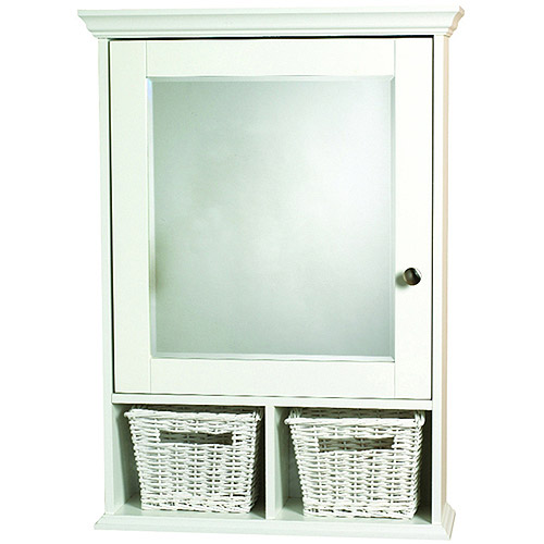 Attirant Zenith Medicine Cabinet With Baskets Wood, White