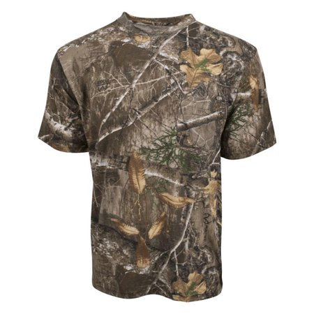 King's Camo Realtree Edge Mens Short Sleeve Classic Cotton Shirt (Linen Mens Camp Shirt)