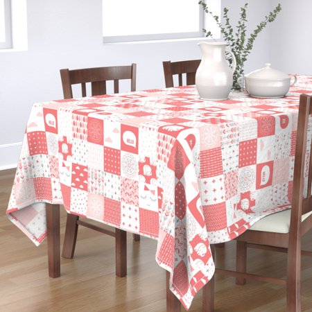Image of Tablecloth Mod Baby Baby Girl Nursery Cheater Cotton Sateen