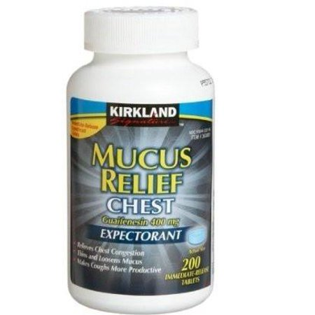 Kirkland Mucus Relief Chest Expectorant Mucinex 400Mg  200X2 400 Tablets