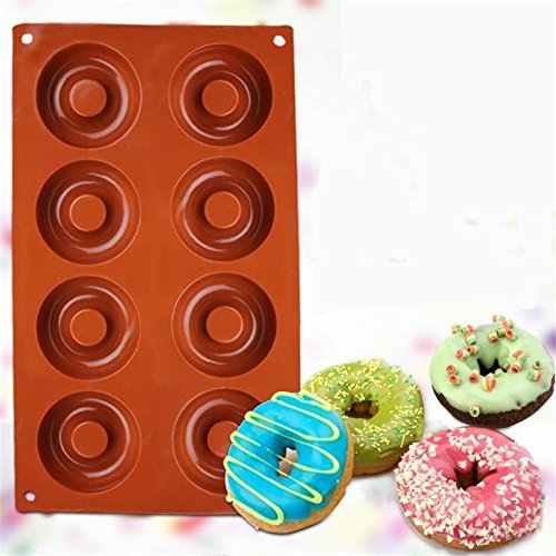 Silicone Baking Donut Doughnut Cake Chocolate Soap Jelly Mold Mould Pan Tool 6L 8 cavity
