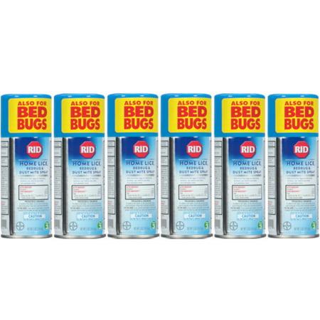 Bug Off 3 Piece - 6 Pack RID Step 3 Home Lice, Bedbug & Dust Mite Spray 5 oz (141.8 g) Each